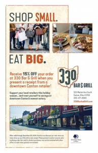 330 Bar & Grill Downtown Shopping Dining Deal